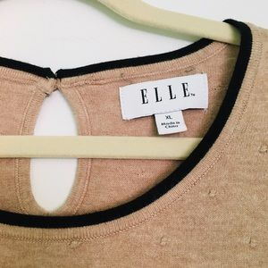 Elle Sweater with raised polka-dot detail.